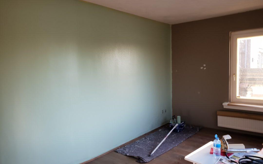 Transformatie van bruin naar groen